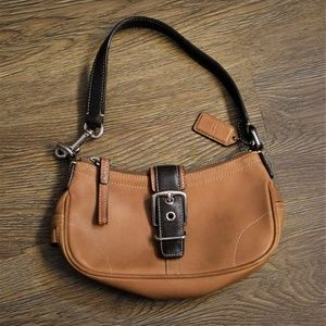 Coach  Caramel/Chocolate Hampton Mini Bag 7542